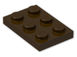 LEGO® Brick: Plate 2 x 3 (3021) | Color: Dark Brown