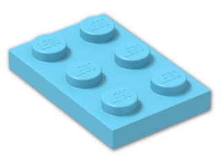 LEGO® Brick: Plate 2 x 3 (3021) | Color: Medium Azur