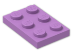 LEGO® Brick: Plate 2 x 3 (3021) | Color: Medium Lavender