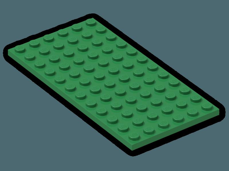 NEW LEGO Dark Bluish Gray 6X12 Plates Lot of 12 Pieces 3028 Dark Stone Grey