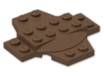 LEGO® Brick: Plate 6 x 6 x 0.667 Cross with Dome (30303) | Color: Brown