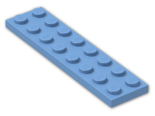 LEGO® Stein: Plate 2 x 8 (3034) | Farbe: Medium Blue