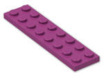 LEGO® Brick: Plate 2 x 8 (3034) | Color: Bright Reddish Violet