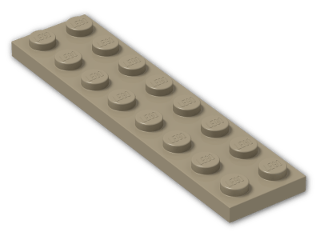LEGO® Stein: Plate 2 x 8 (3034) | Farbe: Sand Yellow