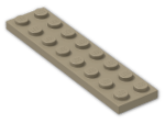 LEGO® Brick: Plate 2 x 8 (3034) | Color: Sand Yellow