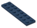 LEGO® Brick: Plate 2 x 8 (3034) | Color: Earth Blue