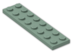 LEGO® Brick: Plate 2 x 8 (3034) | Color: Sand Green