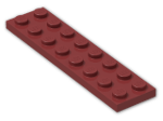LEGO® Brick: Plate 2 x 8 (3034) | Color: New Dark Red
