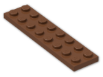 LEGO® Brick: Plate 2 x 8 (3034) | Color: Reddish Brown