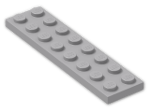 LEGO® Brick: Plate 2 x 8 (3034) | Color: Medium Stone Grey