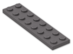 LEGO® Brick: Plate 2 x 8 (3034) | Color: Dark Stone Grey