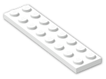 LEGO® Brick: Plate 2 x 8 (3034) | Color: White