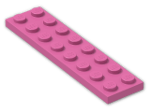 LEGO® Brick: Plate 2 x 8 (3034) | Color: Bright Purple