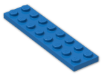 LEGO® Brick: Plate 2 x 8 (3034) | Color: Bright Blue