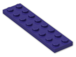 LEGO® Brick: Plate 2 x 8 (3034) | Color: Medium Lilac