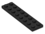 LEGO® Brick: Plate 2 x 8 (3034) | Color: Black