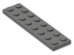 LEGO® Brick: Plate 2 x 8 (3034) | Color: Dark Grey