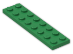 LEGO® Brick: Plate 2 x 8 (3034) | Color: Dark Green