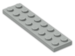LEGO® Brick: Plate 2 x 8 (3034) | Color: Grey