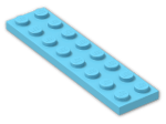 LEGO® Brick: Plate 2 x 8 (3034) | Color: Medium Azur