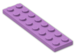 LEGO® Brick: Plate 2 x 8 (3034) | Color: Medium Lavender