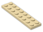 LEGO® Brick: Plate 2 x 8 (3034) | Color: Brick Yellow
