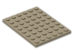 LEGO® Brick: Plate 6 x 8 (3036) | Color: Sand Yellow