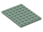 LEGO® Brick: Plate 6 x 8 (3036) | Color: Sand Green