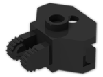 LEGO® Brick: Hinge 1 x 2 Locking with Towball Socket (30396) | Color: Black