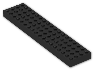 LEGO® Brick: Brick 4 x 18 with Reinforced Underside (30400) | Color: Black