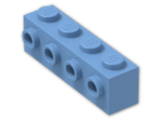 LEGO® Stein: Brick 1 x 4 with Studs on Side (30414) | Farbe: Medium Blue