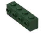 LEGO® Stein: Brick 1 x 4 with Studs on Side (30414) | Farbe: Earth Green