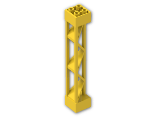 LEGO® Brick: Support 2 x 2 x 10 Girder Triangular (30517) | Color: Bright Yellow