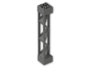 LEGO® Brick: Support 2 x 2 x 10 Girder Triangular (30517) | Color: Dark Grey