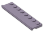 LEGO® Brick: Plate 2 x 8 with Door Rail (30586) | Color: Sand Violet