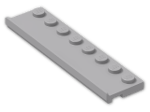 LEGO® Brick: Plate 2 x 8 with Door Rail (30586) | Color: Medium Stone Grey