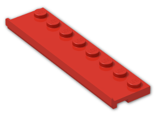 LEGO® Stein: Plate 2 x 8 with Door Rail (30586) | Farbe: Bright Red