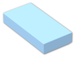 LEGO® Brick: Tile 1 x 2 with Groove (3069b) | Color: Pastel Blue
