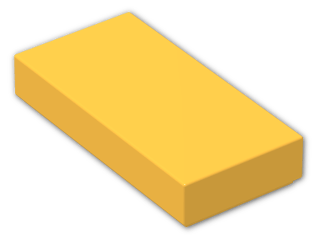 LEGO® Brick: Tile 1 x 2 with Groove (3069b) | Color: Flame Yellowish Orange