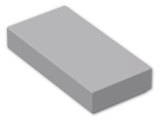 LEGO® Brick: Tile 1 x 2 with Groove (3069b) | Color: Medium Stone Grey