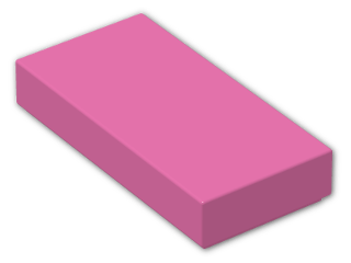 LEGO® Brick: Tile 1 x 2 with Groove (3069b) | Color: Bright Purple
