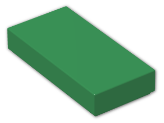 LEGO® Brick: Tile 1 x 2 with Groove (3069b) | Color: Dark Green