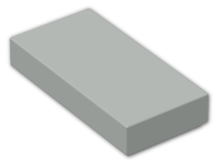 LEGO® Brick: Tile 1 x 2 with Groove (3069b) | Color: Grey