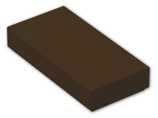 LEGO® Brick: Tile 1 x 2 with Groove (3069b) | Color: Dark Brown
