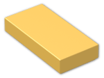 LEGO® Brick: Tile 1 x 2 with Groove (3069b) | Color: Titanium Metallic