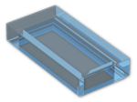 LEGO® Brick: Tile 1 x 2 with Groove (3069b) | Color: Transparent Light Blue