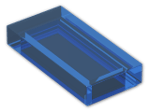 LEGO® Brick: Tile 1 x 2 with Groove (3069b) | Color: Transparent Blue