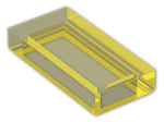LEGO® Brick: Tile 1 x 2 with Groove (3069b) | Color: Transparent Yellow