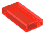 LEGO® Brick: Tile 1 x 2 with Groove (3069b) | Color: Transparent Fluorescent Reddish Orange