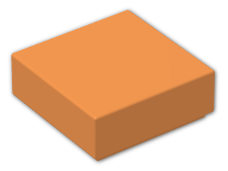 LEGO® Brick: Tile 1 x 1 with Groove (3070b) | Color: Bright Orange